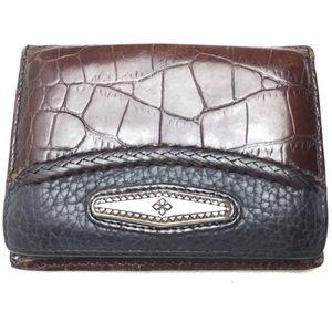 Brighton Handbags - BRIGHTON VINTAGE MINI CARD CASE WITH SILVER CONCHO