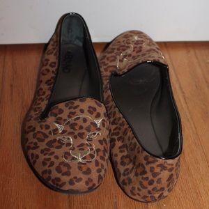 Charlotte Olympia Shoes - animal print espadrilles loafers cat face toes 🐯