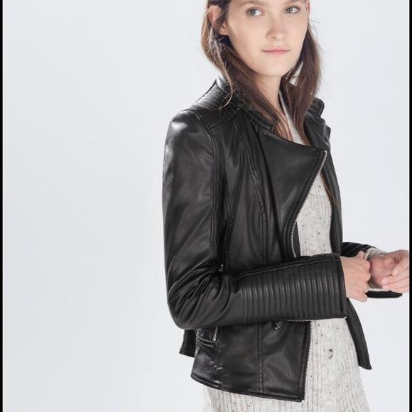 e1e80f6d Zara Jackets & Coats | Trf Faux Leather Moto Jacket | Poshmark