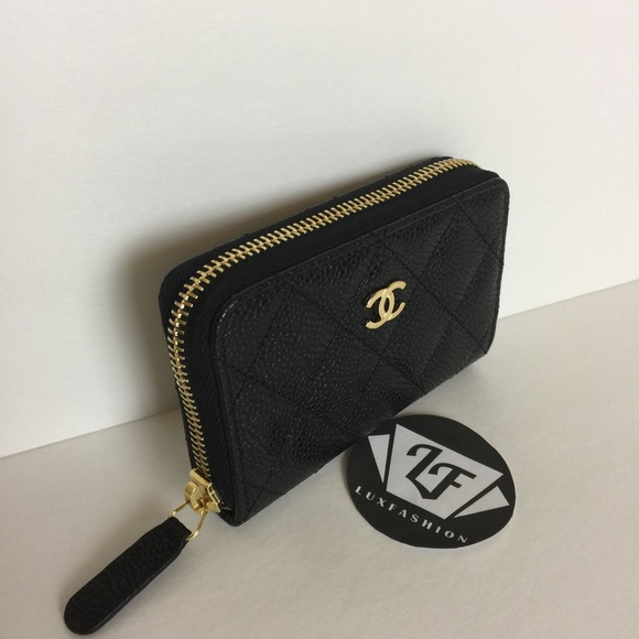 chanel zip coin purse. chanel bags - authentic chanel classic card holder o coin purse zip poshmark