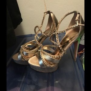 Marciano Shoes - Guess by Marciano Jeweled Strap Heels