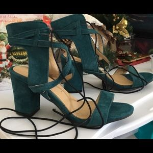 Shoes - Sandals strappy turquoise suede Size 37/US7