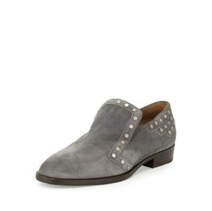 Shoes - Laurence Dacade Paris Jay Suede Studded Loafers