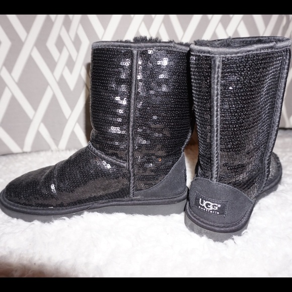 HOLIDAY SALE!!! Black Sequin Ugg Boots