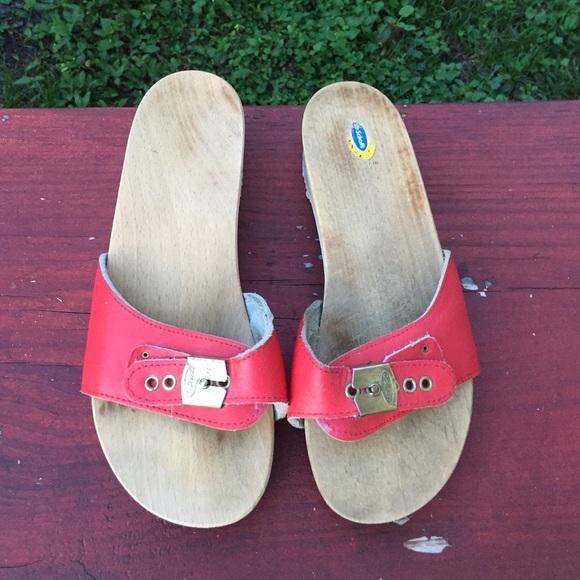 b6decf4fec5b Dr. Scholl s Shoes - Vintage dr scholl s sandals 70s clogs flip ...