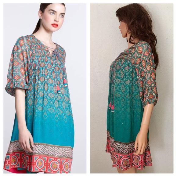 7f4cba3bfc91 Anthropologie Dresses | Anthro X Tanvi Kedia Tunic Dress | Poshmark