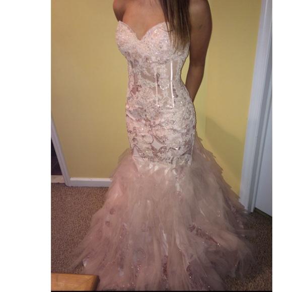 Jovani Dresses | Blush Mermaid Prom Dress | Poshmark