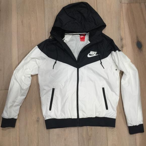 Men's Black & White Nike Windrunner