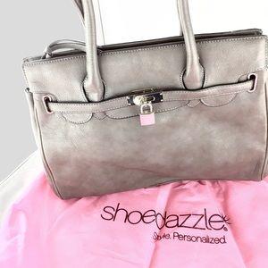 Shoedazzle Handbags - Like New 🌸Shoedazzle 🌸 Grey Silver Lock Tote Bag
