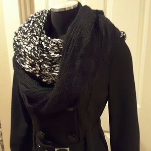 Collection XIIX Accessories - Collect XIIX Knit Infinity Scarf Black Paint NWT
