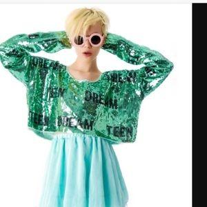 Wildfox Teen Dream Sequin Sweater NWOT Medium