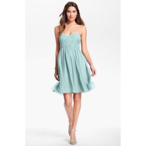Light Blue Strapless Dresses