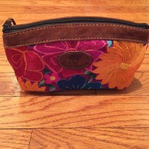 Beautiful handmade zippered makeup bag