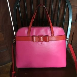 Kate Spade pink and orange bow bag