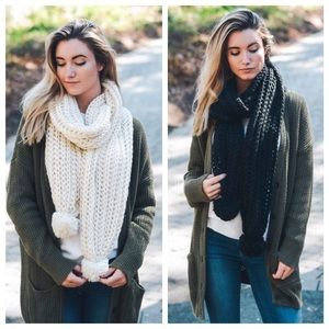 Hannah Beury Accessories - Pom Scarves