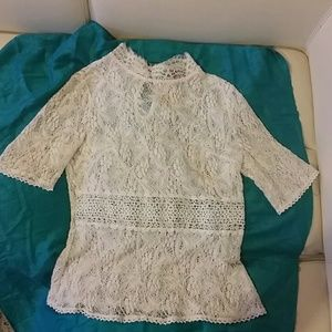 Rainbow Tops - Beautiful white lace top