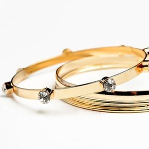 Anthropologie Jewelry - ❗️Anthropologie Gold Studded Bangle