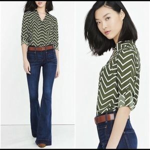 Express Chevron Portofino Shirt