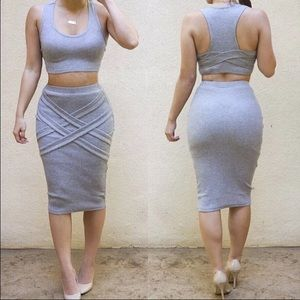 Two Piece Bandage Outfit