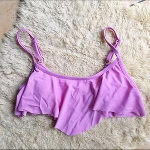 VM Tops - NWOT Target Swim Lilac Flutter Crop Bikini Top S