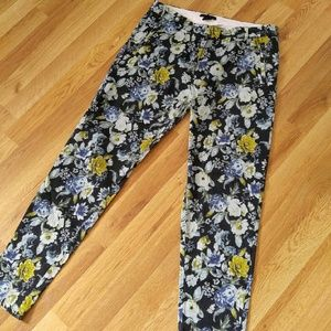 H&M Floral Skinny Pants
