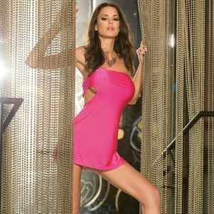 Electric Lingerie Pink After Hours Party Tube Dres