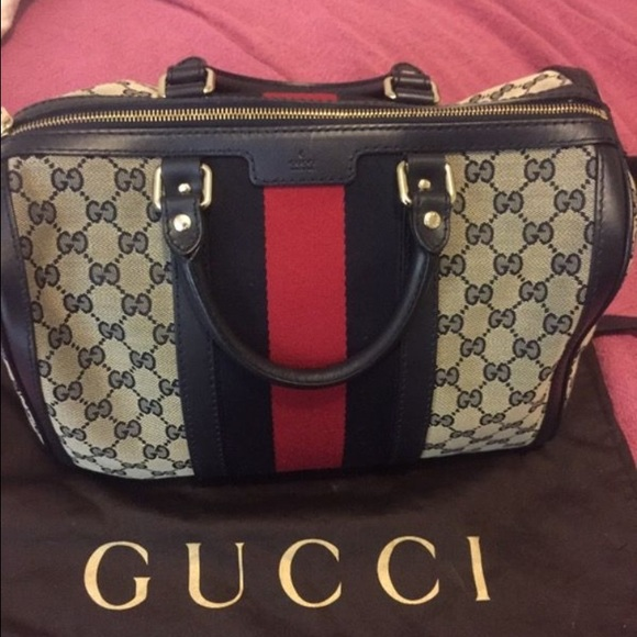 162f8899e9eb0d Gucci Bags | Vintage Web Original Gg Canvas Boston Bag | Poshmark