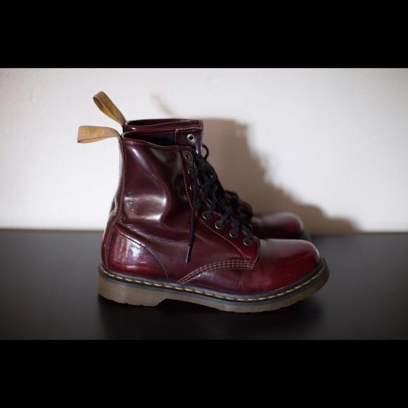 1f61a9fc82d5 Dr. Martens Shoes | Dr Martens Vegan 1460 8eye Cherry Red Cambridge ...