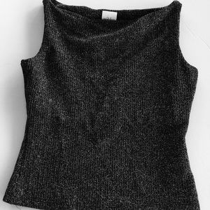 Forever 21 black sparkly top small