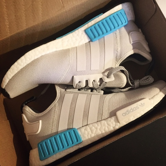 9878a37754634 Adidas Shoes - Adidas NMD - white bright cyan