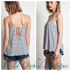 BACK TIE CAMI TOP