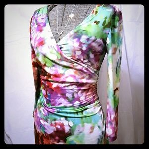 Muse Dresses & Skirts - Watercolor Long Sleeve Stretch Dress