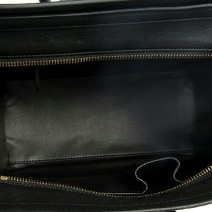 Celine Bags - Celine Micro Emerald Green Python Black Leather 88682e2eb1439
