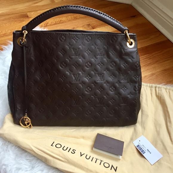 11c7a0b21506 Louis Vuitton Handbags - AUTHENTIC LV Brown Artsy MM Empreinte
