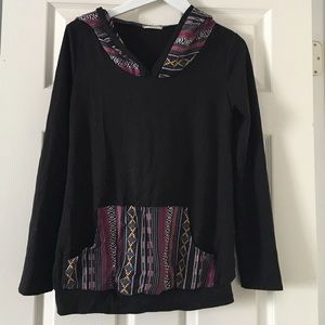 Tops - Aztec Embroidered Hoodie