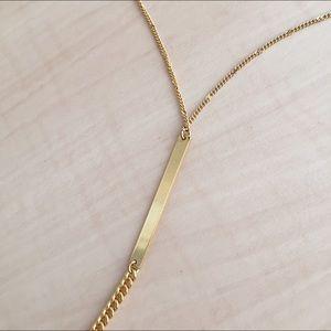 Evereve Jewelry - Evereve Gold Bar Pendant Necklace