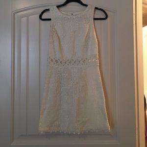 Topshop off-white Lace dress