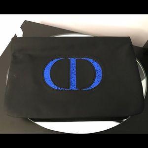 Dior Other - NEW DIOR MAKEUP BAG BLACK BLUE SEQUIN