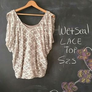 Wet Seal Tops - Wet Seal Lace Top Sz S