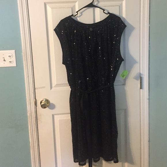 a1e15491f8508 Lane Bryant Plus Size 22 24 Black Sequin Dress