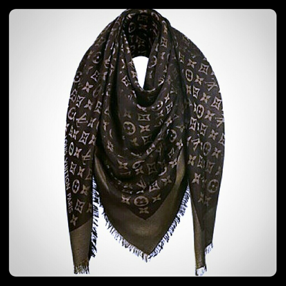 4fbd22a93 Louis Vuitton Accessories - ⚡Louis Vuitton Shine Shawl Brown Monogram