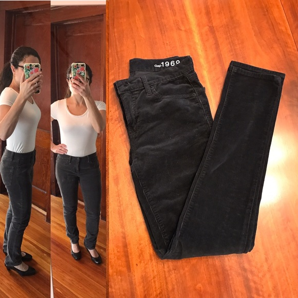 limited sale new lifestyle unequal in performance GAP 1969 Real Straight black corduroy pants