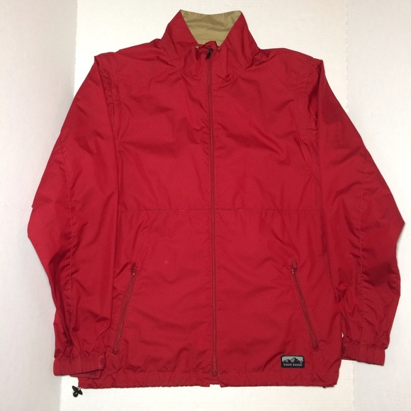 Eddie Bauer - Mens Eddie Bauer red windbreaker jacket Vest Sz a ...