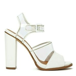 Nasty Gal Shoes - Nasty Gal Shoe Cult Clarity Sandals in White