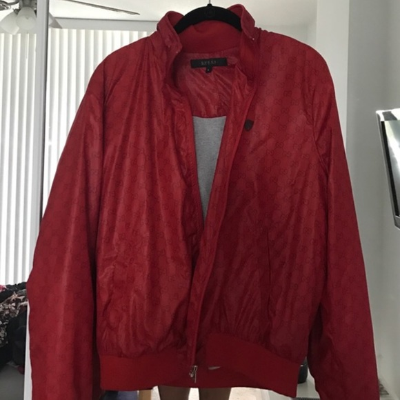 80% off Gucci Other - Unauthorized Gucci Bomber Jacket - RED ...