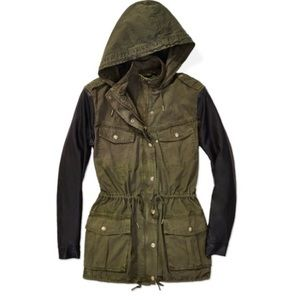 Talula canvas/ leather jacket