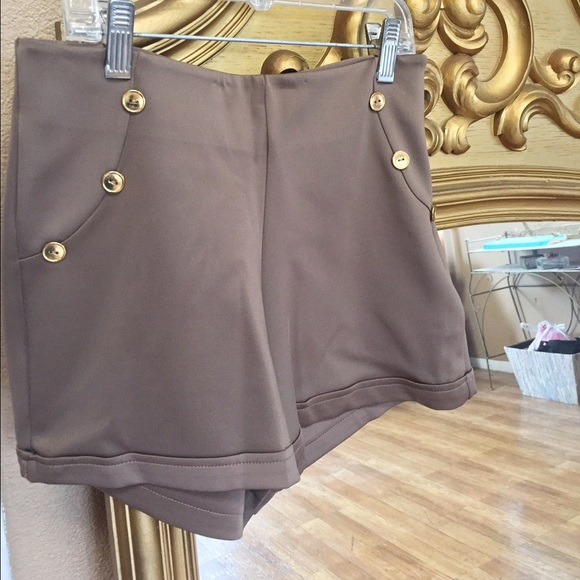 44% off Peaches N Cream Pants - Tan High-Waisted Shorts from ...