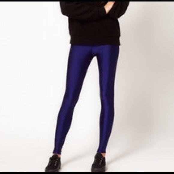 7bc572c7b American Apparel Pants | Navy Blue Shiny Leggings | Poshmark