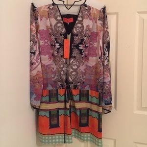Clover Canyon Dresses & Skirts - CLOVER CANYON Drawstring Dress RARE Print NWT L