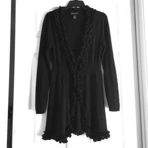 INC International Concepts Sweaters - INC romantic & feminine black cardigan medium